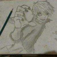 mi primer dibujo de kaneki ken