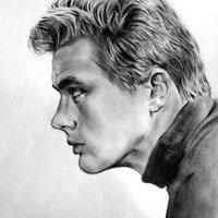 James Dean retrato