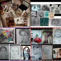 mis dibujos en collage
