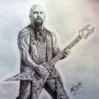 Dibujo de Kerry King, guitarrista de Slayer