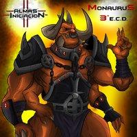 Monaurus model, Almas the comic
