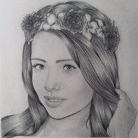 Retrato a lápiz - Sandra Itzel