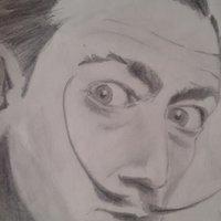 Salvador Dalí a lápiz.