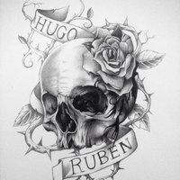 Calavera diseño tattoo