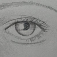 intentando otra manera para dibujar ojos