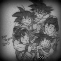 Que hermosa familia!!(DRAGON BALL Z)
