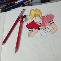 Proceso Fan Art Hiruma Youichi E21