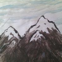 Montaña acuarelosa xD