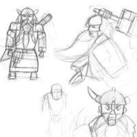 Dwarft warrior sketch 1