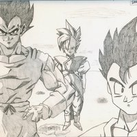 Gohan, Vegeta & Kaio Shin