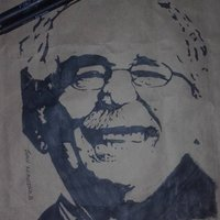 practicando sombras con retrato de Gabriel Garcia