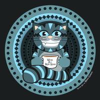 Gato Cheshire Vector