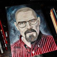 Bryan Cranston (Dibujo con Lapices de color) Old Work