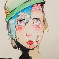 zombie beck acuarela
