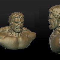 HULK 3D modelado en sculptris