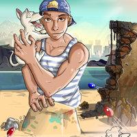 Retrato con mascota..=)