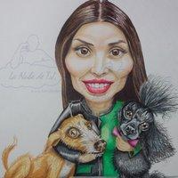 caricatura color con mascotas