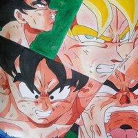 Goku se transforma en ssj por primera vez