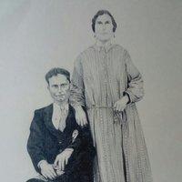 Foto antigua a lápiz
