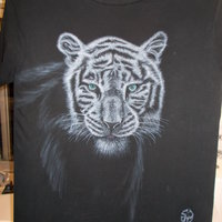 Aerografía textil tigre
