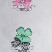 Tattoo conjunto trebol
