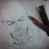 Retrato Hombre en lápiz Carboncillo