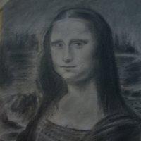 Dibujo a Lápiz de la Gioconda.