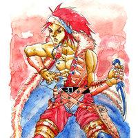 Crimson rogue: aquacolor.