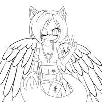 Mi personaje, Sónica Ban Rose [Dibujo,Pintado, con sombras y luminosidad, con fondo]