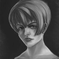Portrait manga stilized