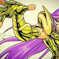 dibujo fan art mu de aries anime saint seiya