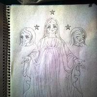 boceto para proyecto de la Virgen María