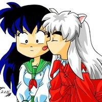 dibujo fan art inuyasha y aome