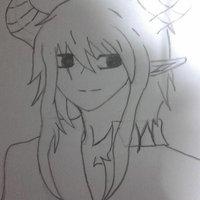 boceto de personaje principal de mi manga