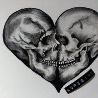 heart skulls