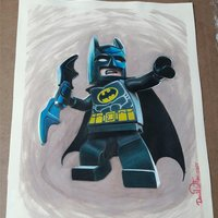 Lego Batman throwing batarang