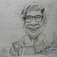 Caricatura a lápiz por encargo