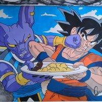 Bills y Goku Dragon ball