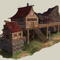 Casa estilo medieval