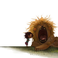 La niña y el León