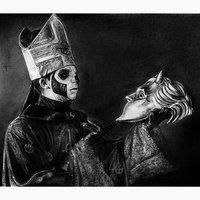 Papa Emeritus III and Ghoul mask