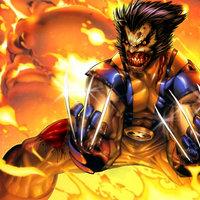 Wolverine zombie entre llamas