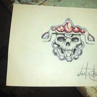 un pequeño cráneo en opalina