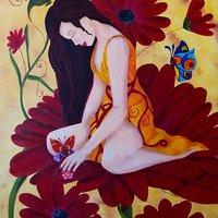 flor de un sueño atrapado