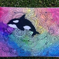 ORCA ZENTANGLE ART