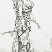 mujer del bosque
