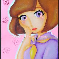pastel schoolgirl