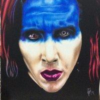 Blue half face ( Marilyn Manson)