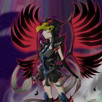 BLACK WINGED DRAGON GIRL