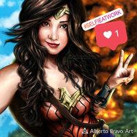 Wonder Woman selfie